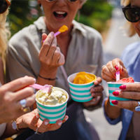 group of women eating water ice